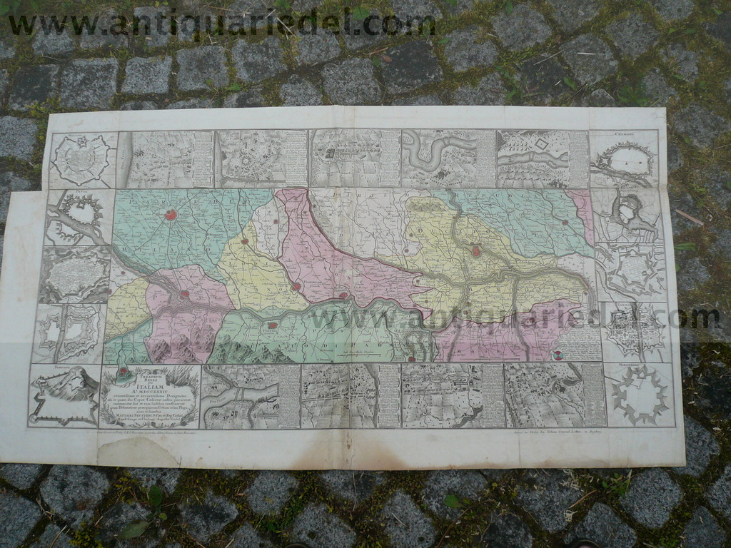War of polish succession 1734, Seutter, complete map