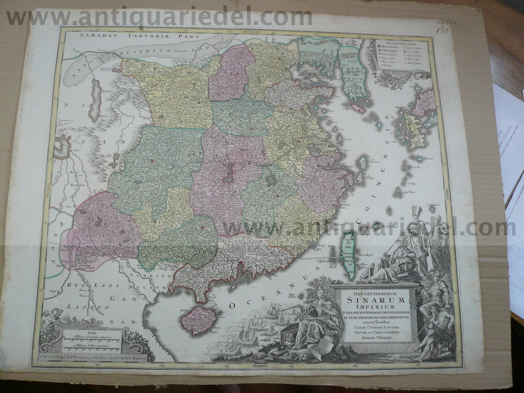 China, anno 1760, Lotter T.C., map