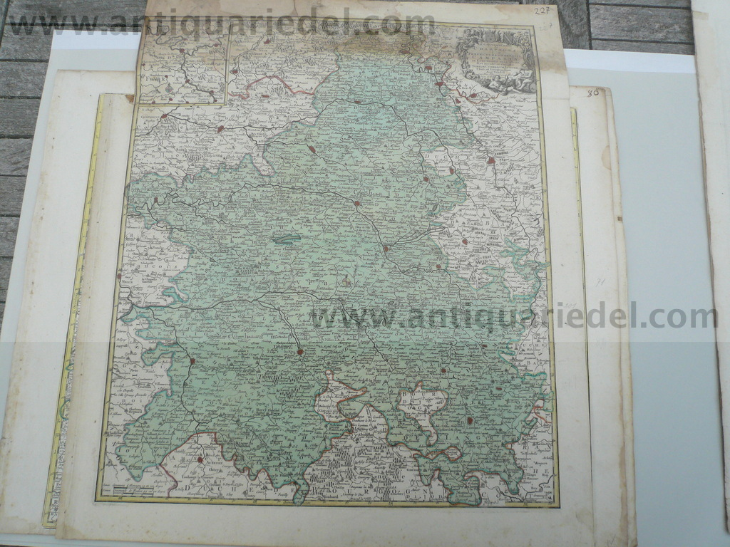 Champagne, anno 1760, Lotter T.C., map, old colours
