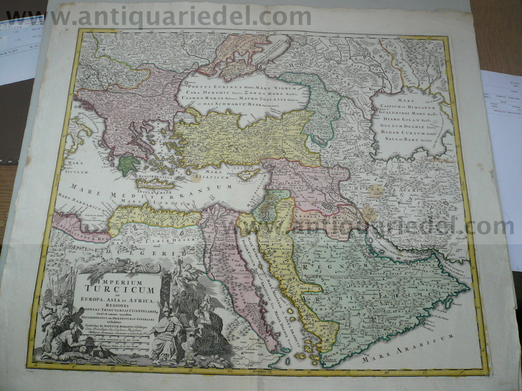 Imperium Turcicum, map, Homann anno 1720, scarce! Scarce map of