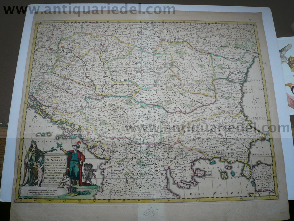 Balkan/Romania/anno 1680, map by F.de Wit