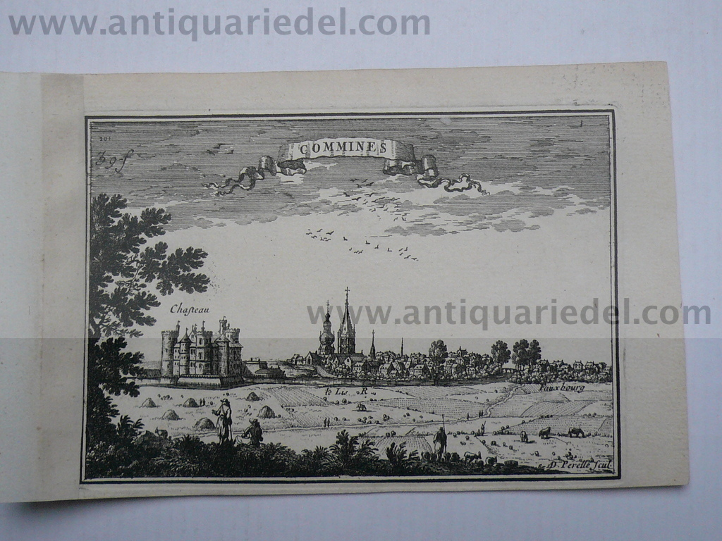 Comines, anno 1668, Panorama, Beaulieu