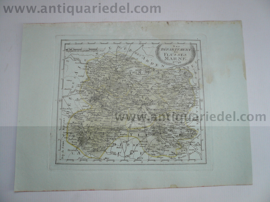 Departement Marne, anno 1806, map by Reilly
