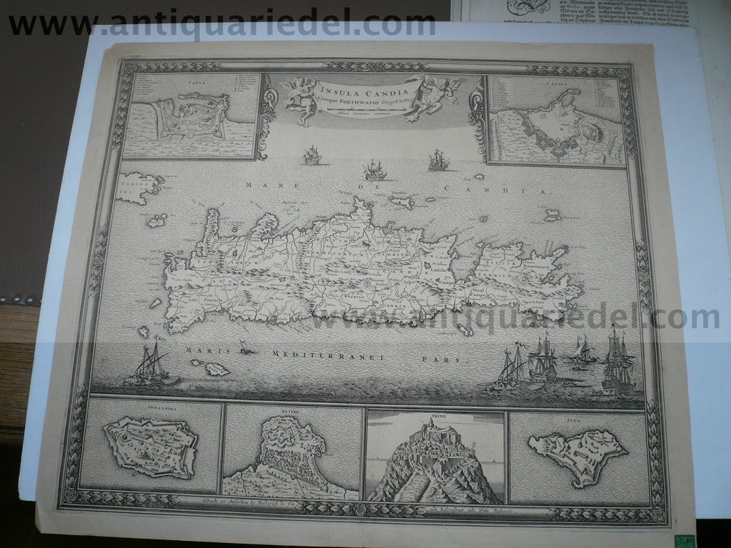 Candia/Crete/Kreta, anno 1680, map, F.de.Wit We offer a scarce c