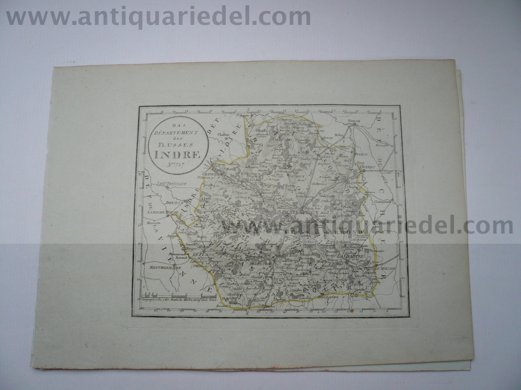 Chateauroux/Indre, map, anno 1806, Reilly