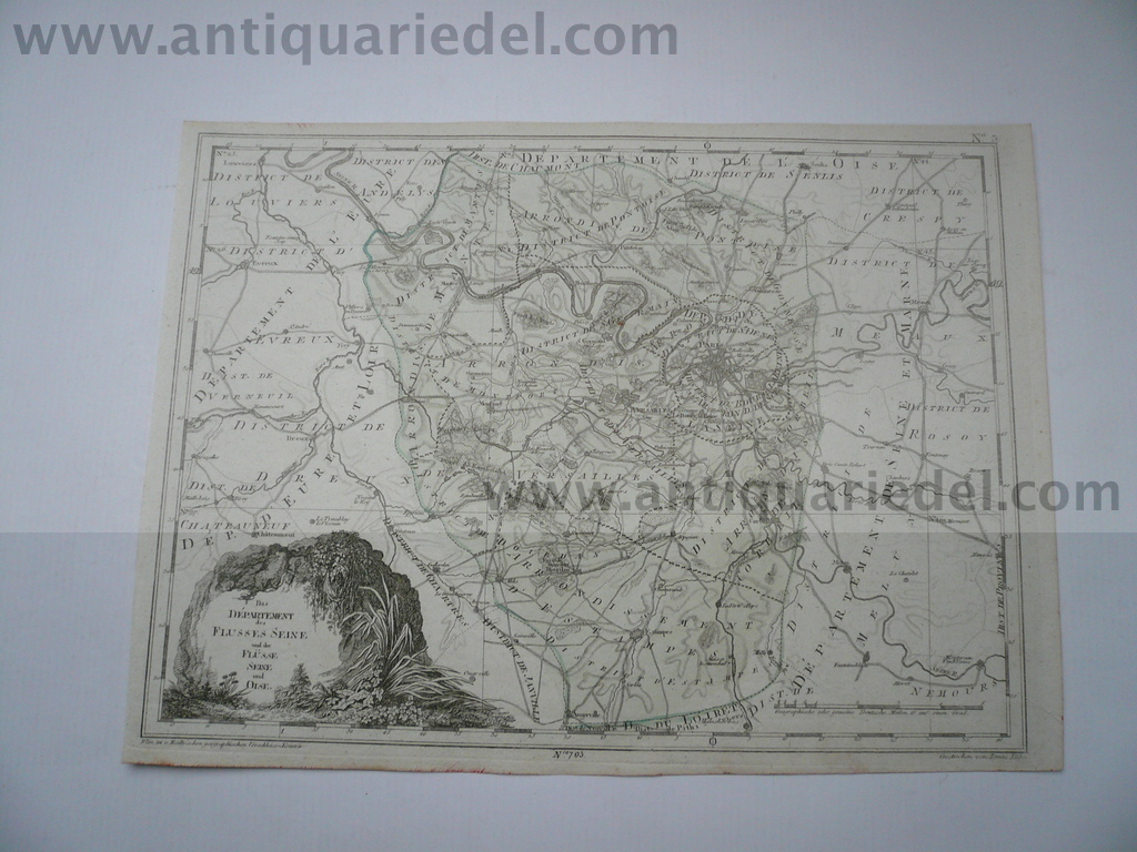 Departement Seine-Oise, anno 1806, map Reilly