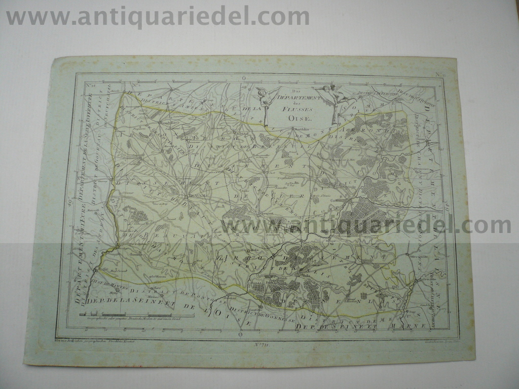 Departement Oise, anno 1806, map, Reilly