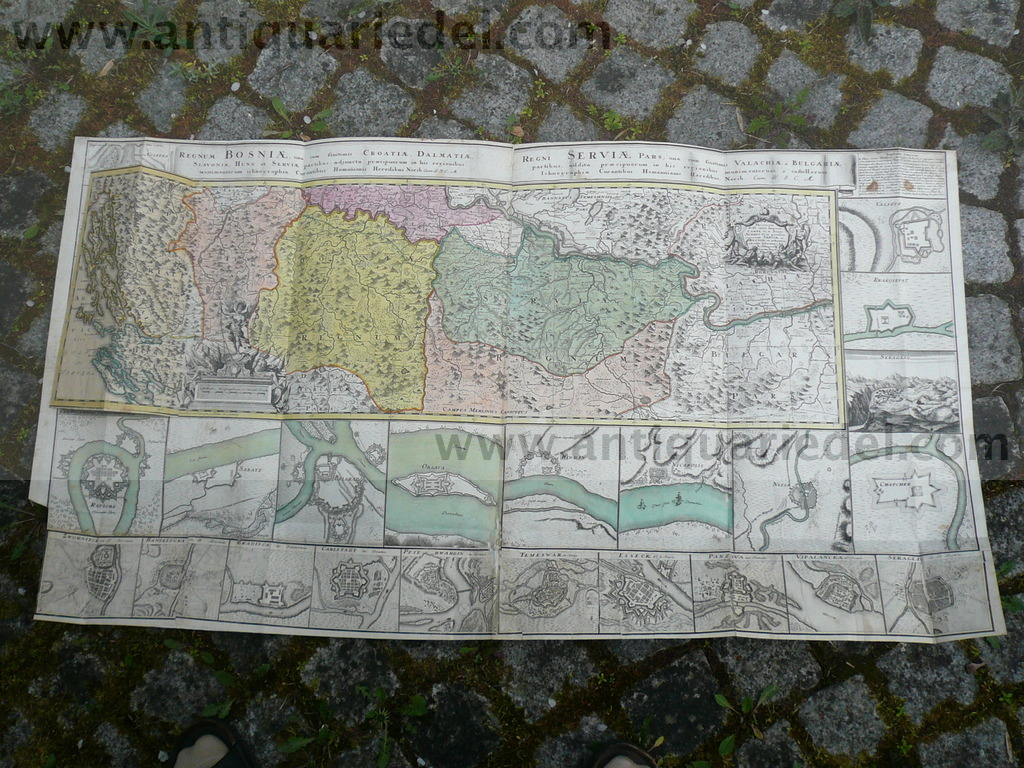 Balkan,Bosnia,Serbia,anno 1740,Homann Heirs, big map Angeboten w