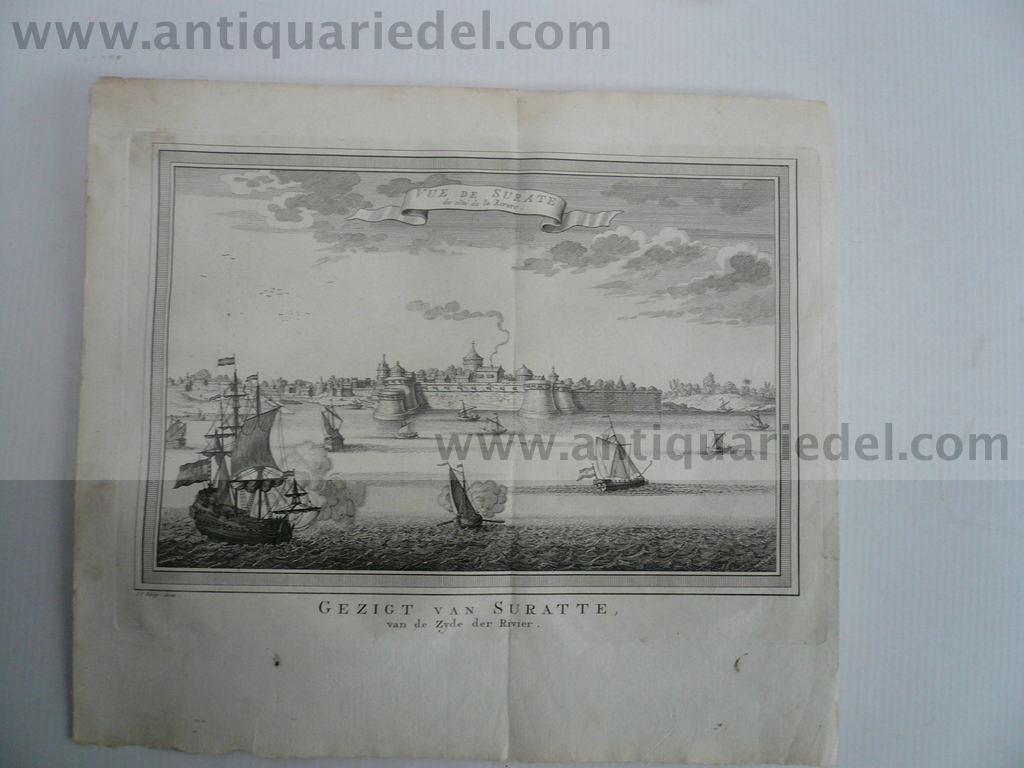 Surat, anno 1775, copperengraving, Schley Jakob