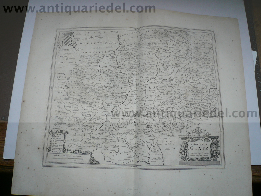 Comitatus Glatz, anno 1657, map Janssonius Jan, french edition