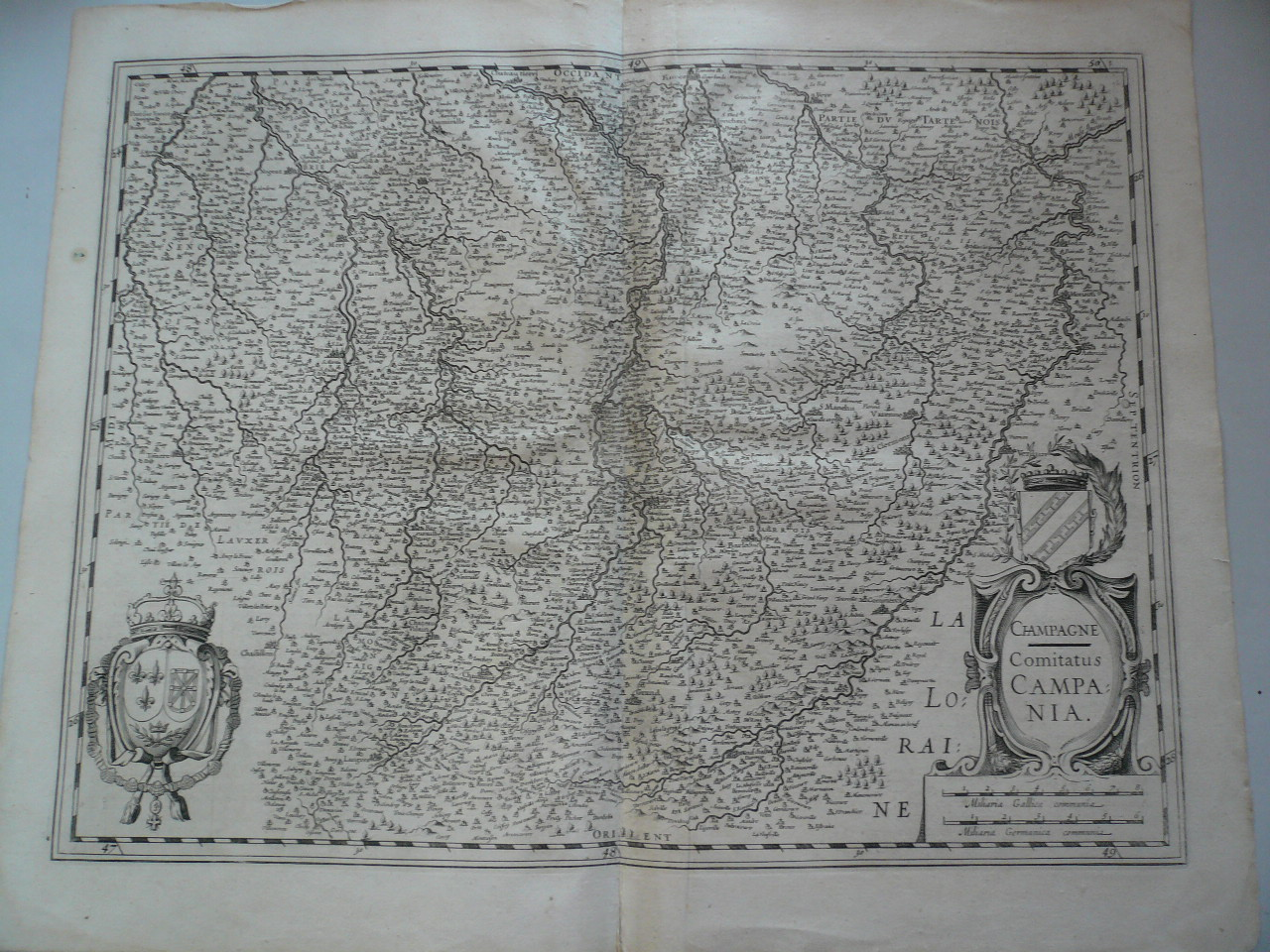 CHAMPAGNE Comitatus CAMPANIA Old Map Champagne France Janssonius