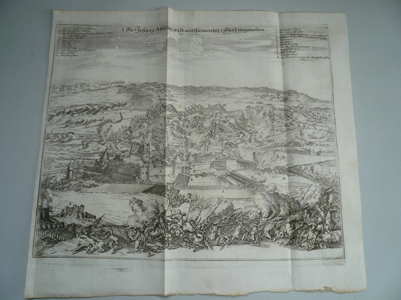 Athlone, battle of 1691, Theatrum Europaeum, 1702 Matthäus Meria