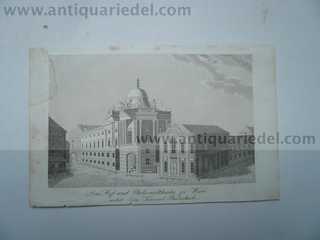 Wien, Nationaltheater, anno 1850, Stahlstich
