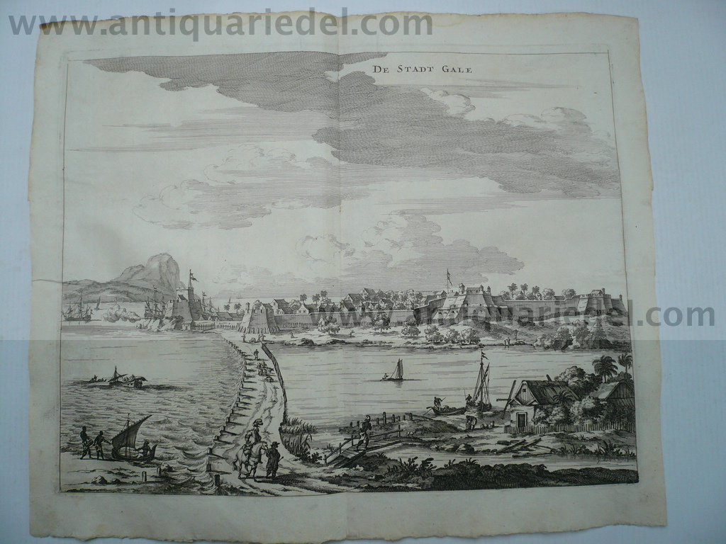 Galle in Sri Lanka, anno 1672, Baldaeus