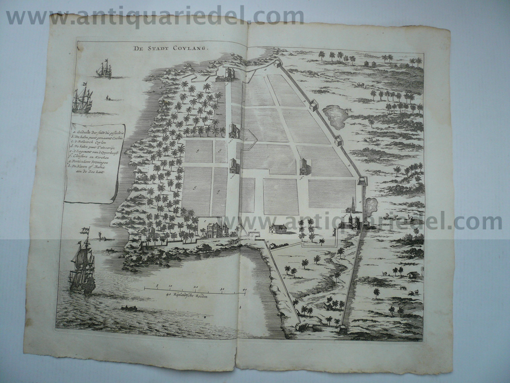 De Stadt Coulang, Baldaeus, anno 1672----Kollam in India