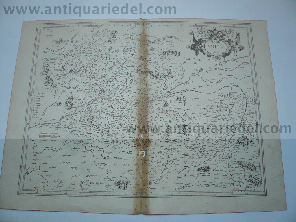 Aniou, anno 1600, Mercator map,  , edited by Mercator G., size o