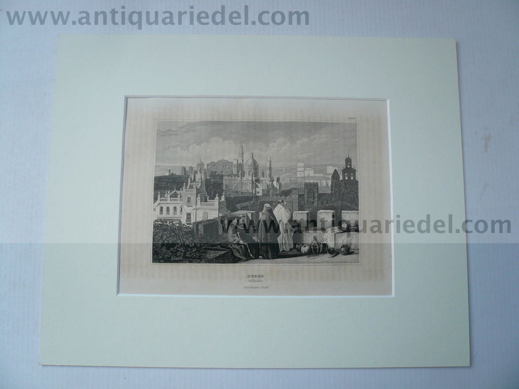 Xeres, anno 1859, nice steelengraving