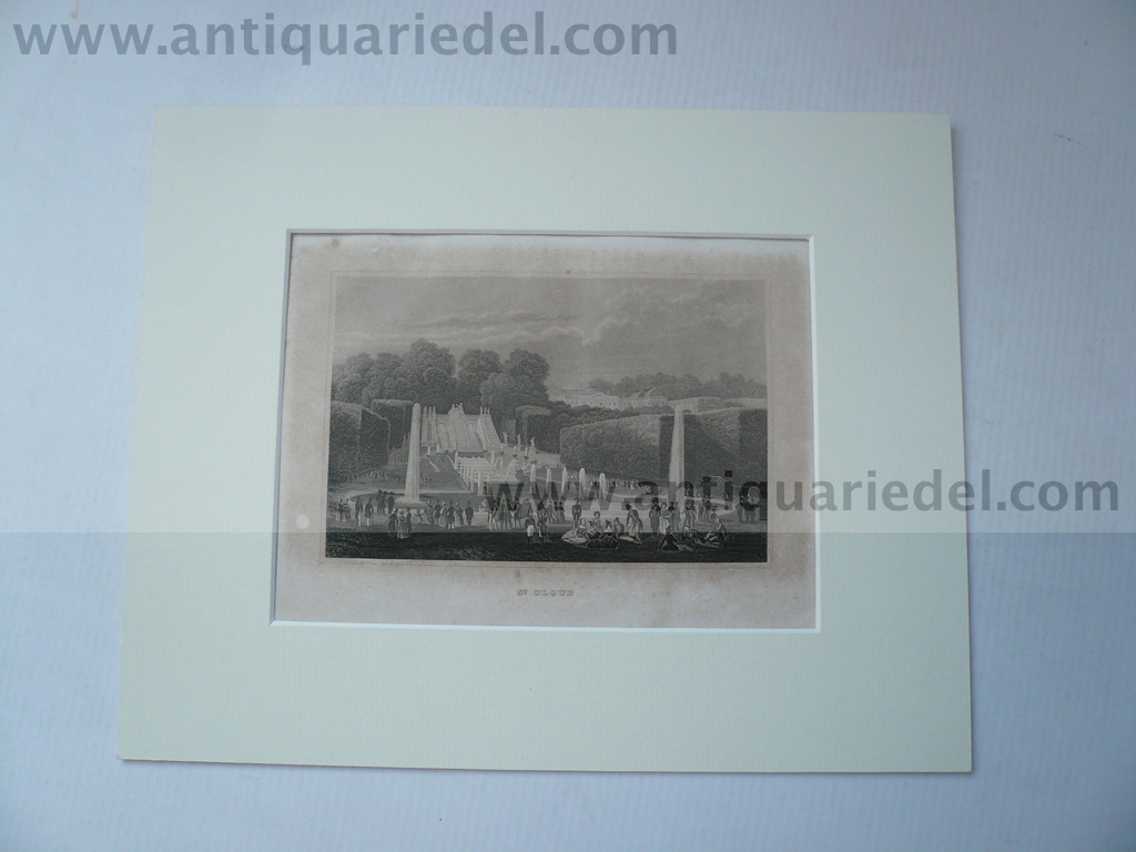 Chateau St. Cloud, anno 1859, steelengraving