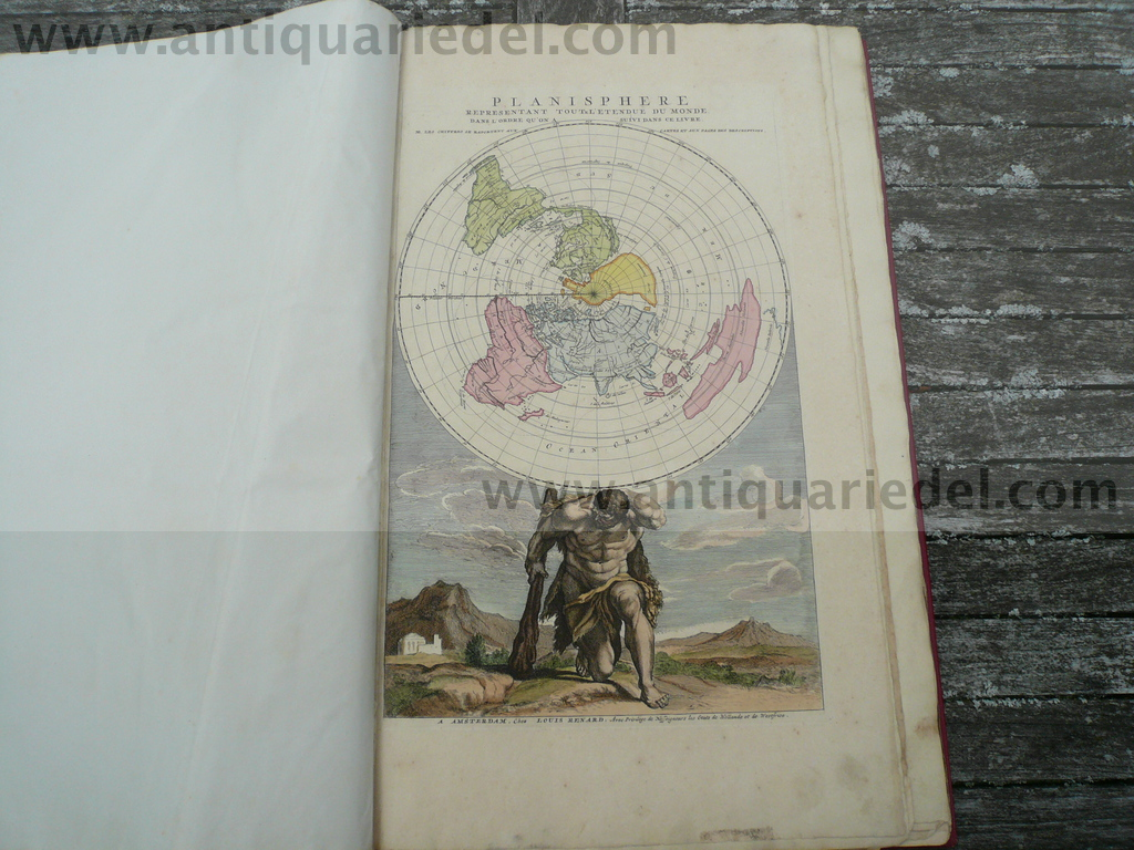 Atlas de la navigation, Renard Louis, Ottens 1739, old colours,