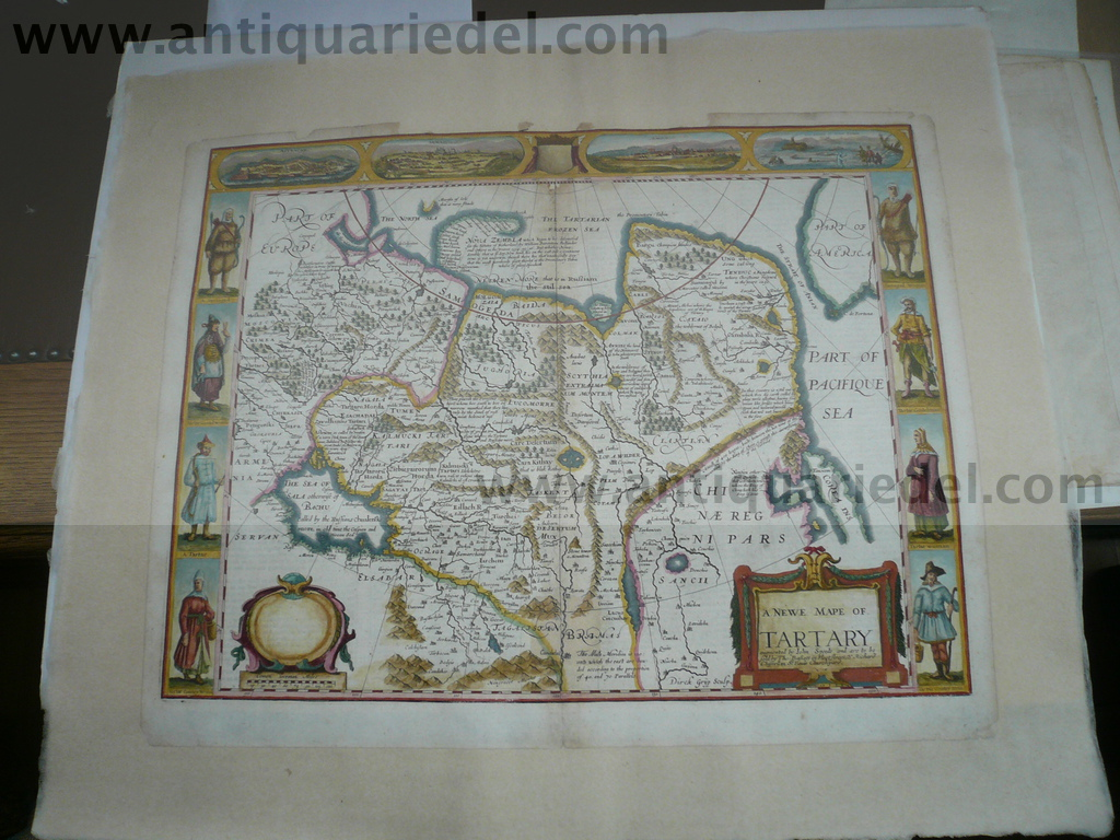 A newe mape of Tartary, Speed J., anno 1650
