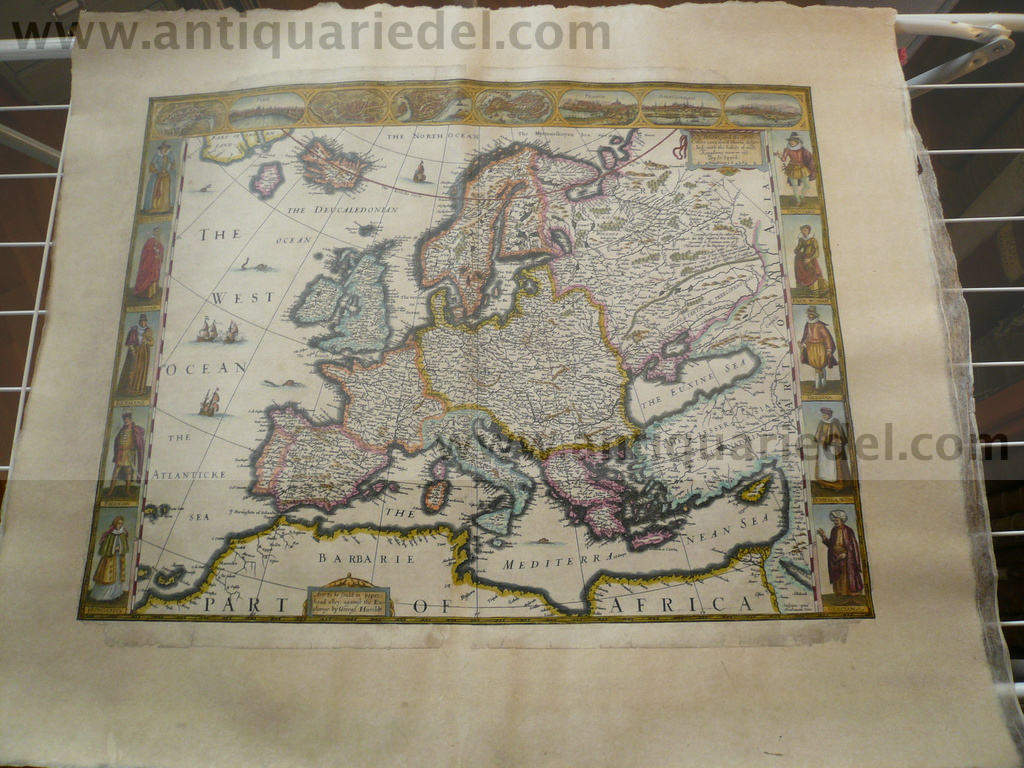 Europ and the cheife Cities, Speed, 1626, map