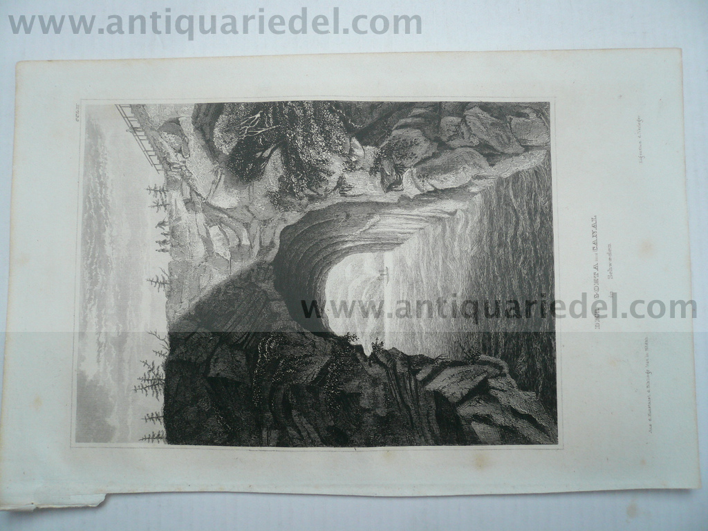 Goeta-Canal, Sweden, anno 1850, steelengraving, 15x10 cm..