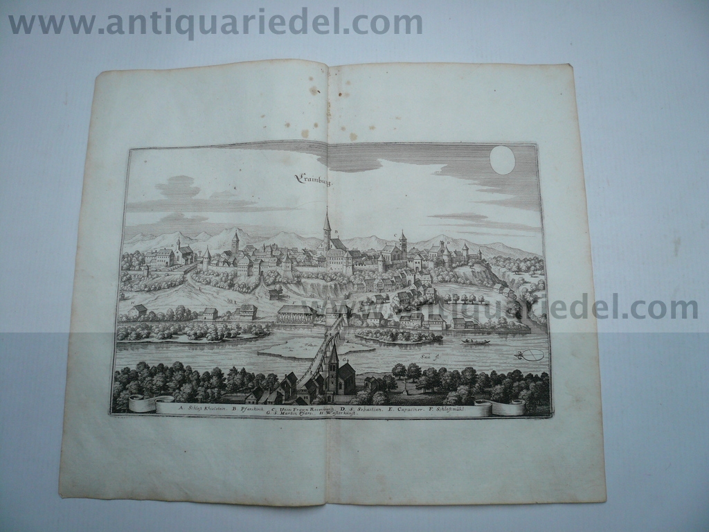 Kranj, anno 1679, copperengraving, Merian Matthäus