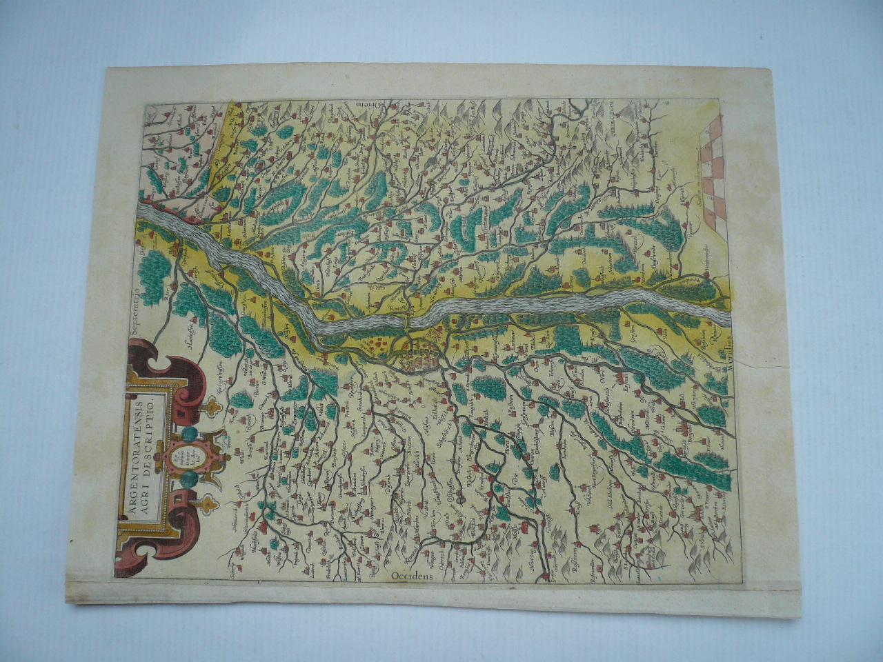 Alsace,map,Ortelius A., anno 1603, latin edition, coloured,