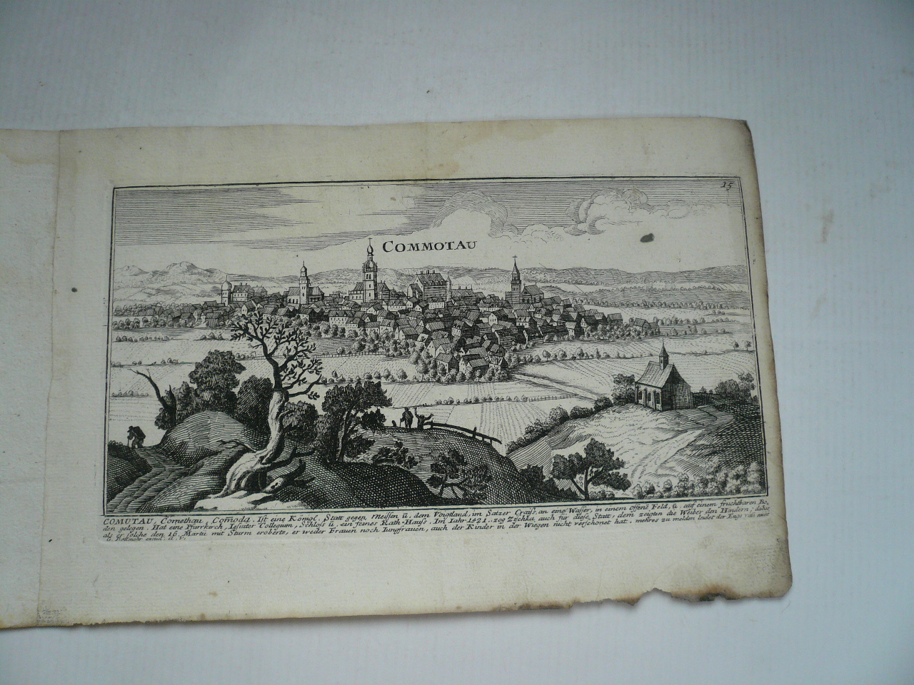 Chomutov, anno 1720, Bodenehr, copperengraving