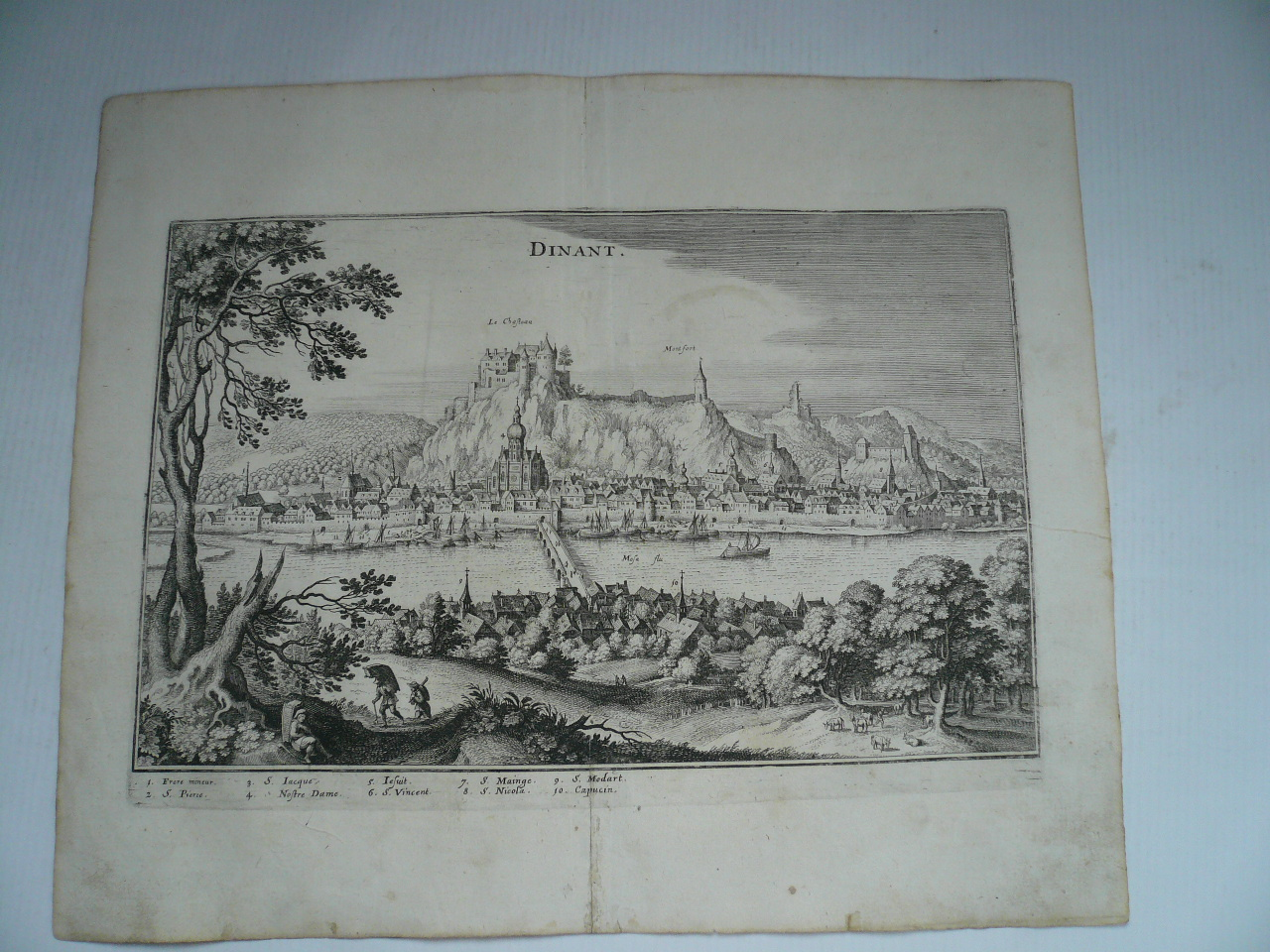Dinant, anno 1647, copperengraving, Merian Matthäus, edited in h