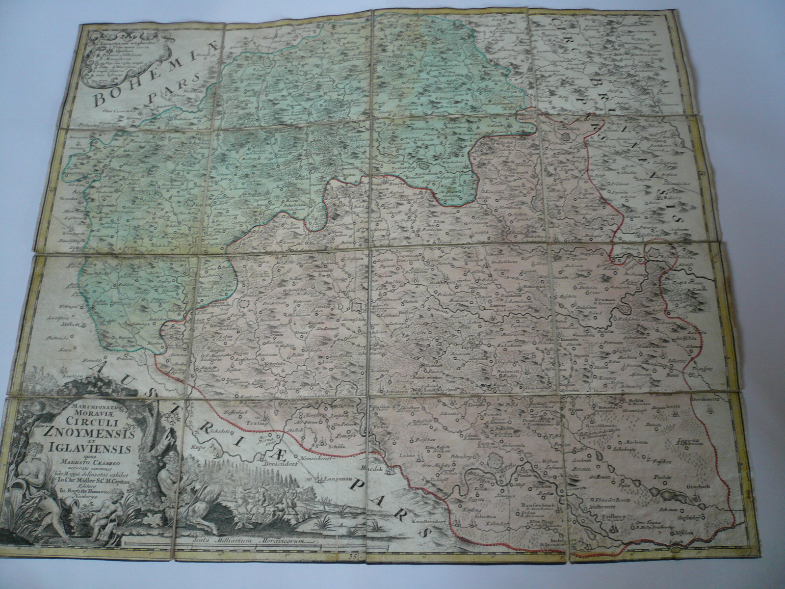 Znoymensis/Iglaueinsis,anno 1720, map Homann J.B., old colours C