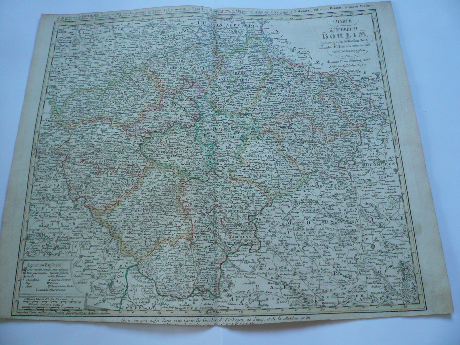 Bohemia, anno 1805, map by Homann Heirs