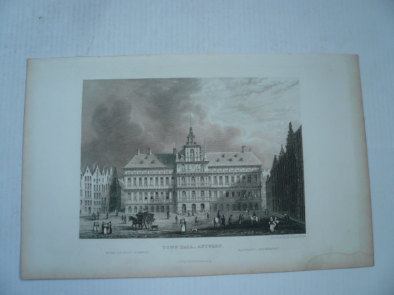 Antwerp, anno 1840, steelengraving, Black & Armstrong