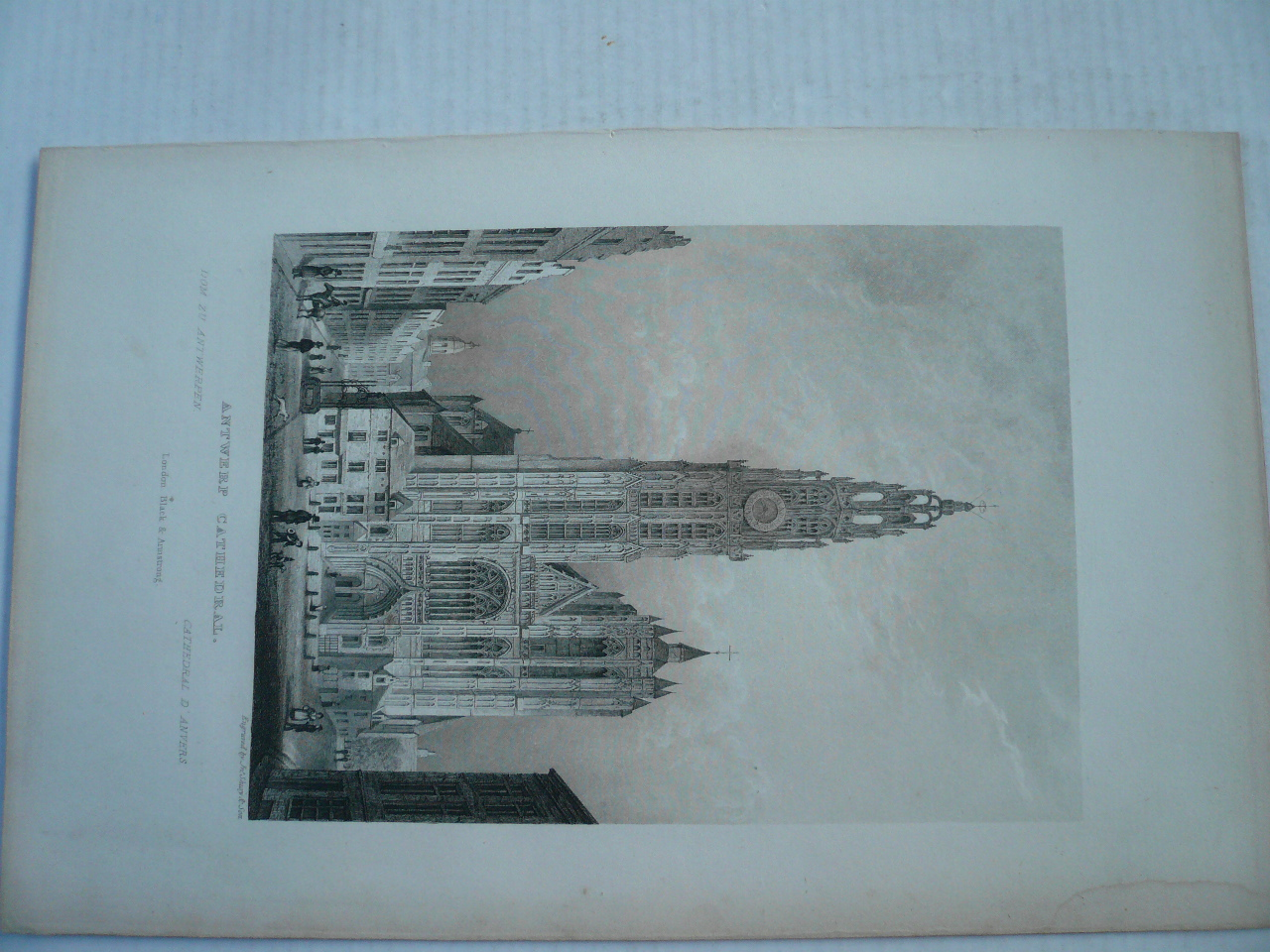 Antwerp, cathedral, anno 1840, steelengraving, Black & Armstrong