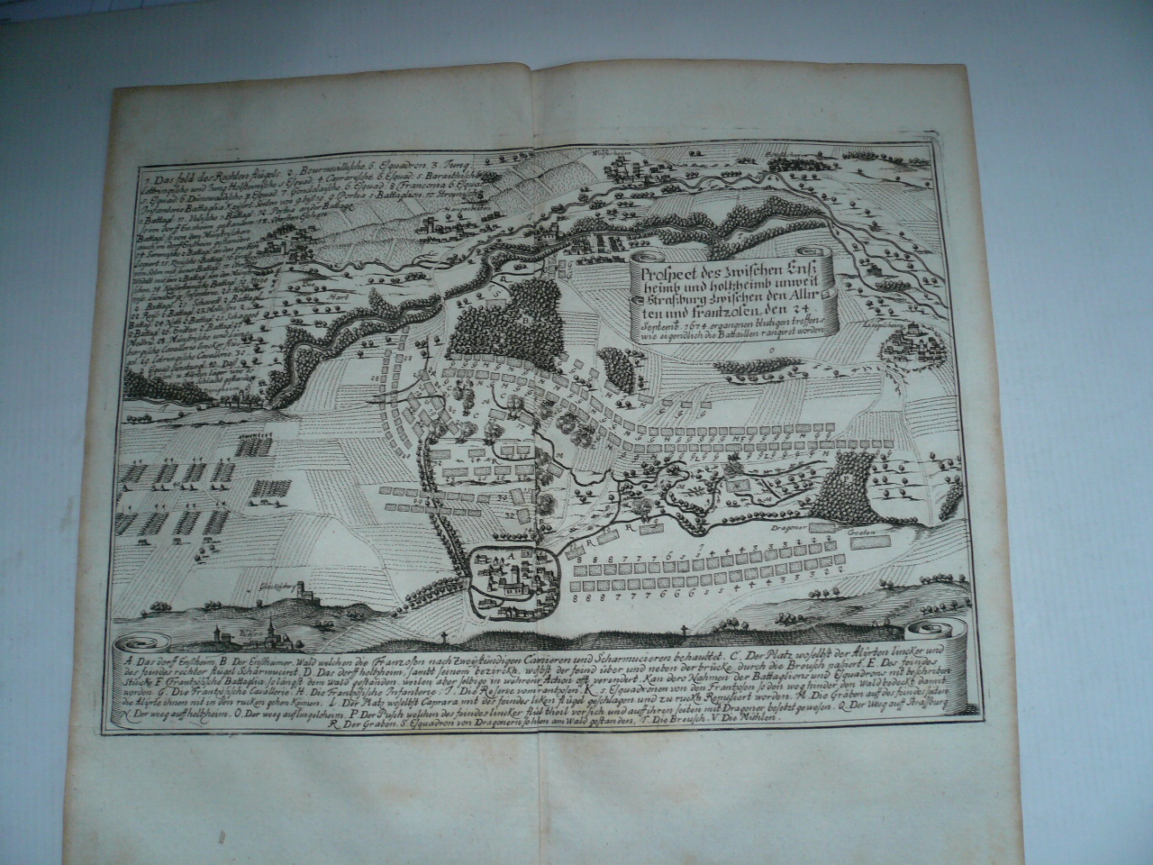 Battle of Ensheim, 24.09.1674, Merian, Theatrum Europaeum