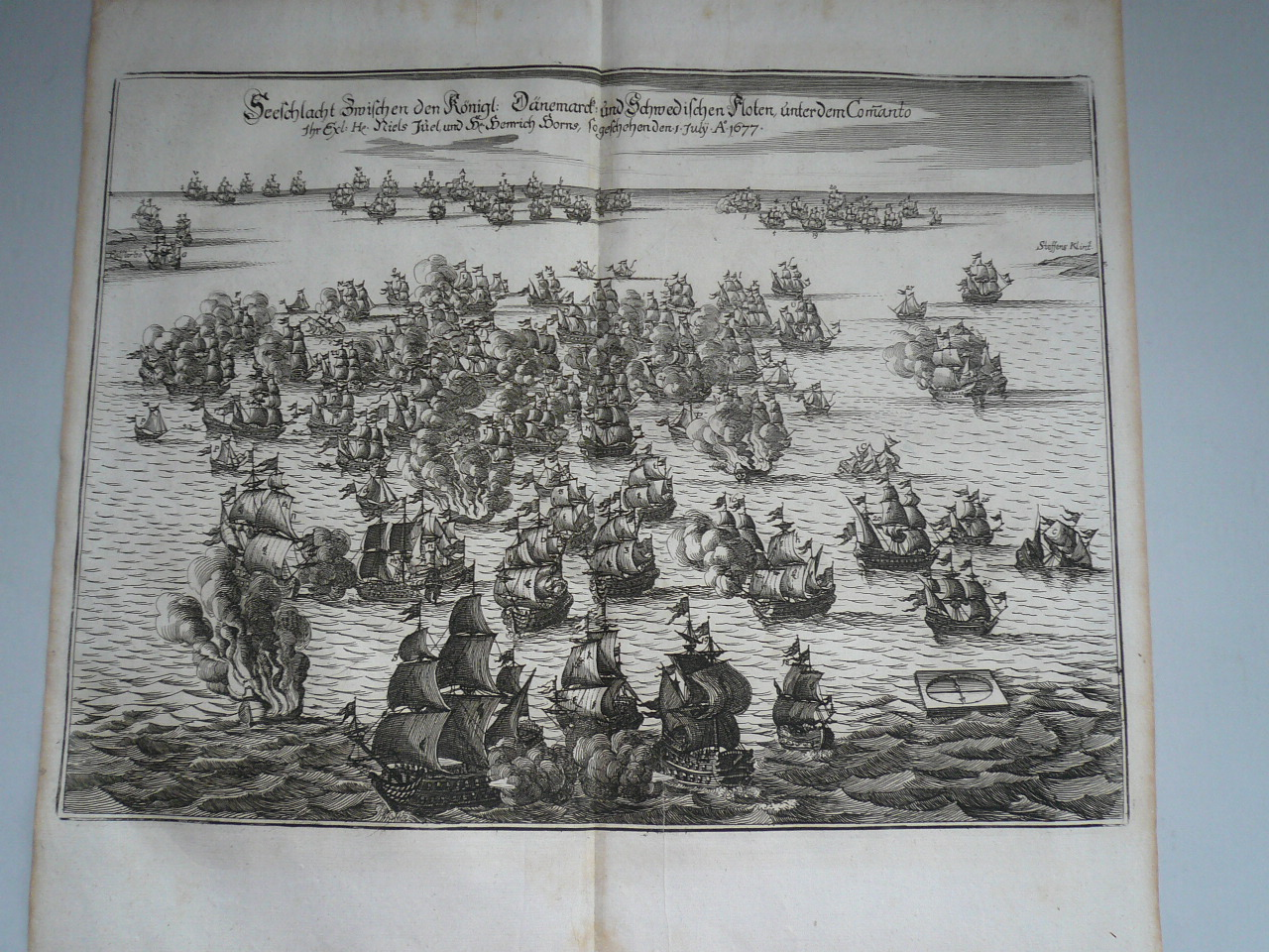 Battle of Koge Bay, anno 1677, Merian Matthaeus, anno 1685