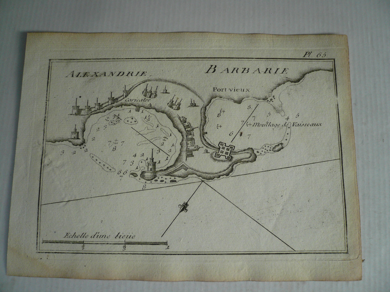 Alexandria, anno 1795, Roux J. Copperengraving, edited by Joseph
