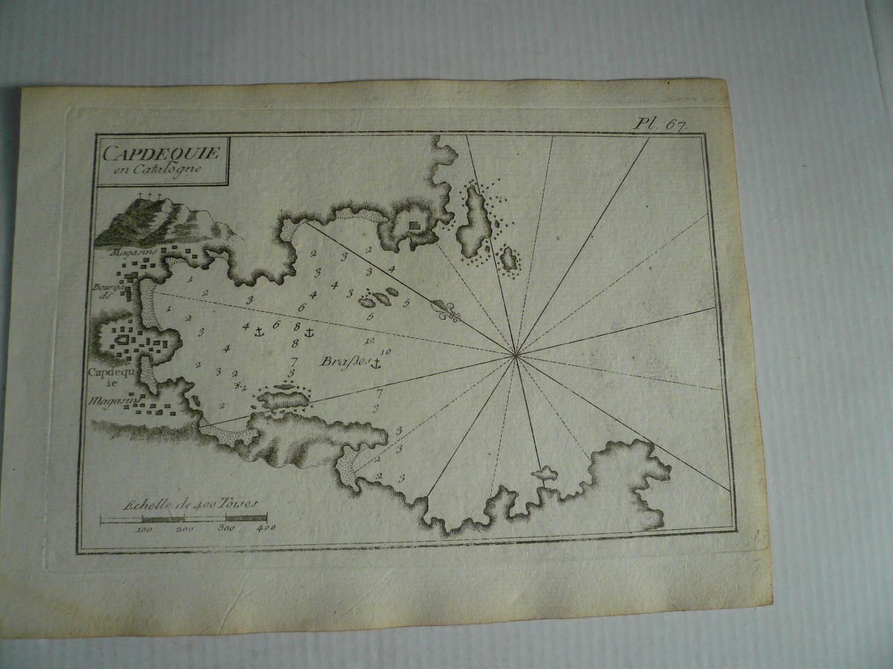Cadaques, Catalonia, anno 1795, Roux J  Copperengraving, edited