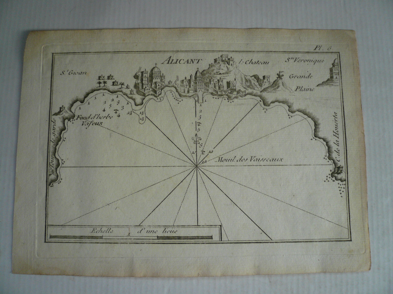 Alicante, anno 1804, copperengraving, Roux Joseph