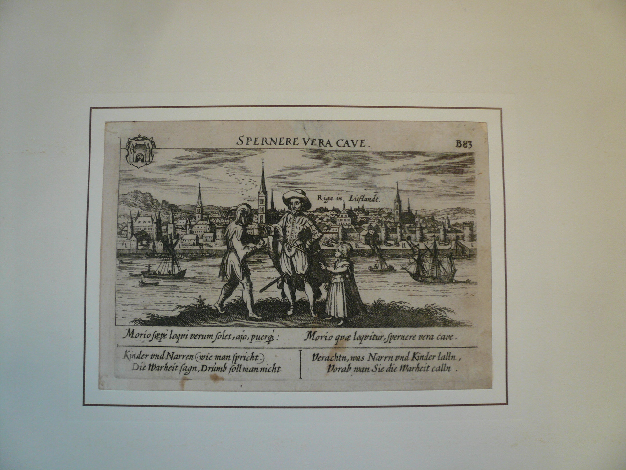 Riga, anno 1630, Meisner/Kieser Copperengraving, edited anno 163