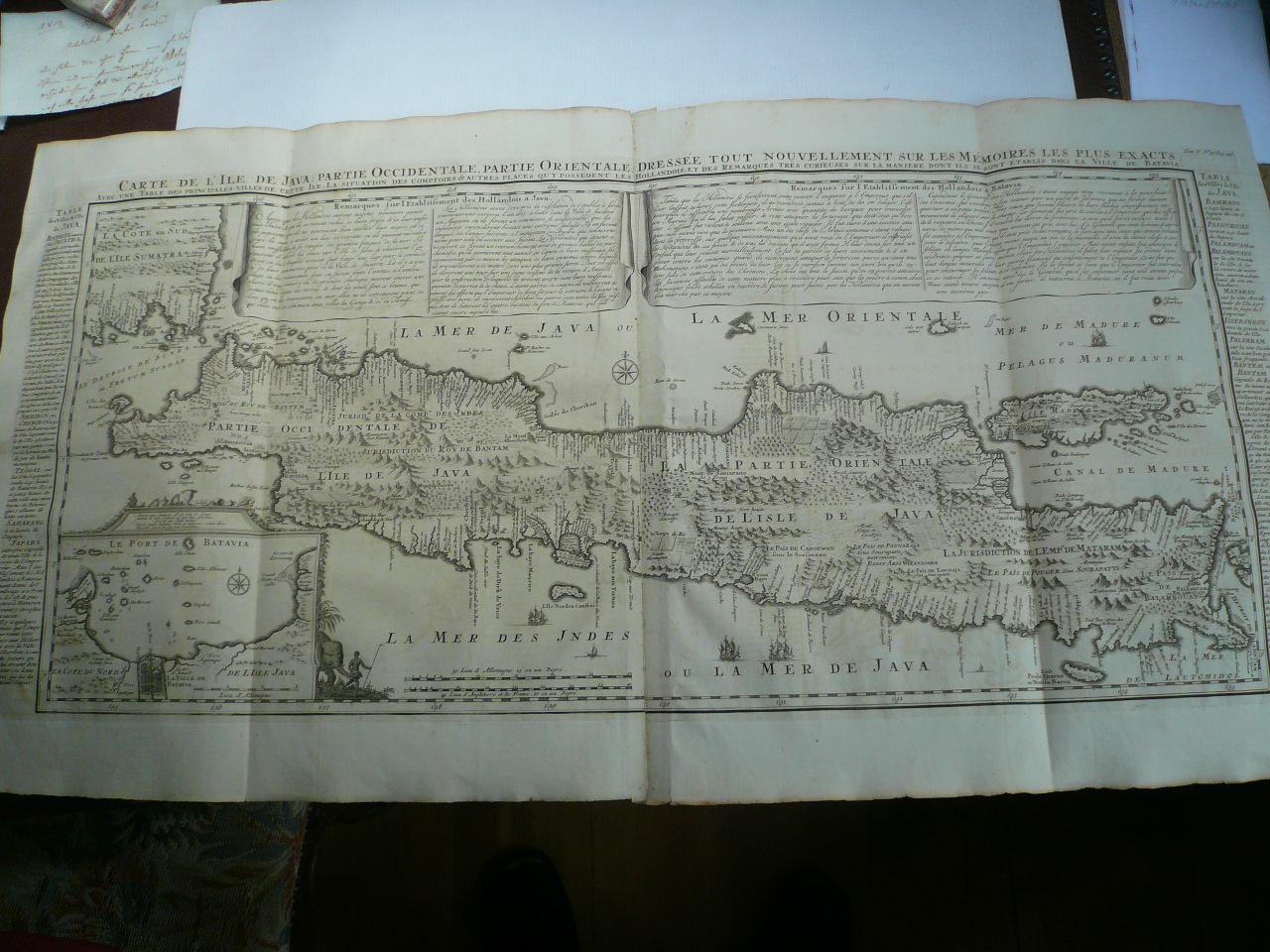 Carte de L ´Ile de Java... Chatelain, anno 1719, very good condi