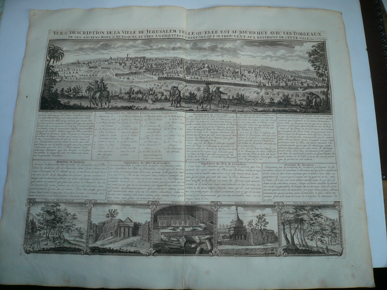 Vue & description de la Ville de Jerusalem, anno 1719, Chatelain