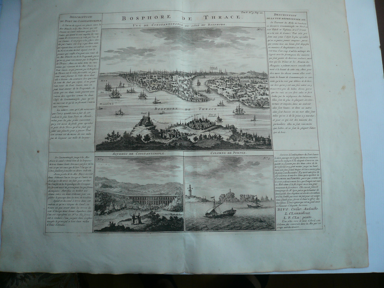 Bosphore de Thrace, anno 1719, Chatelain Henri, copperengraving