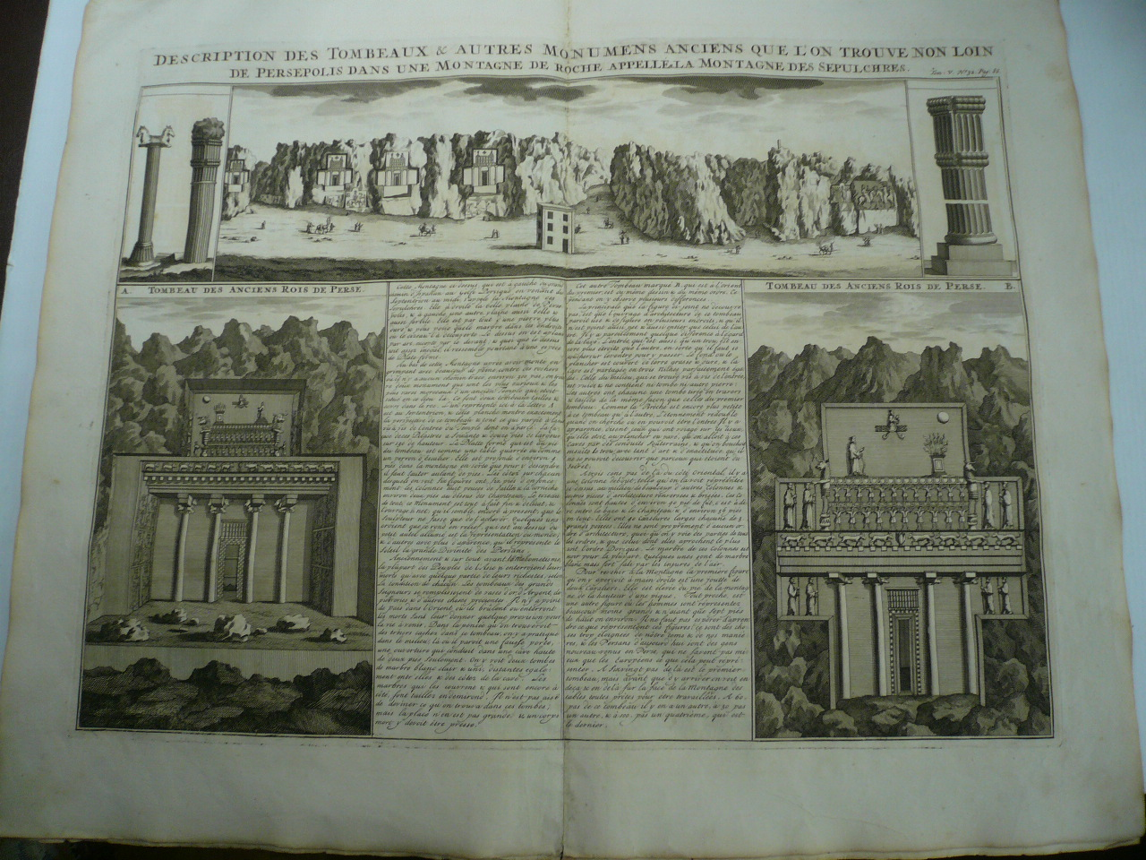 Persepolis, anno 1719, copperengraving, Chatelain Henri