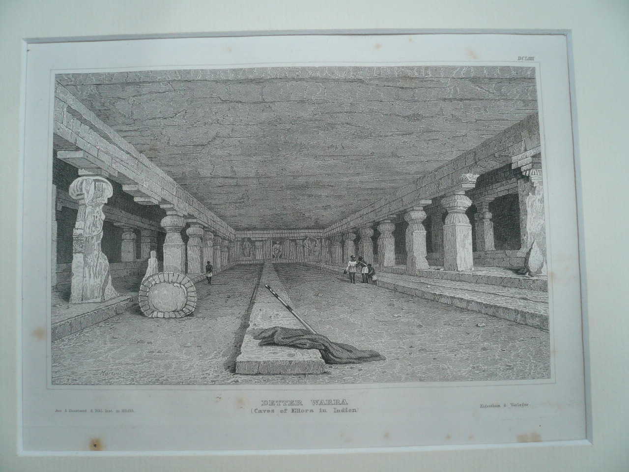 Caves of Ellora India, anno 1850, hinter Passepartout    -    30