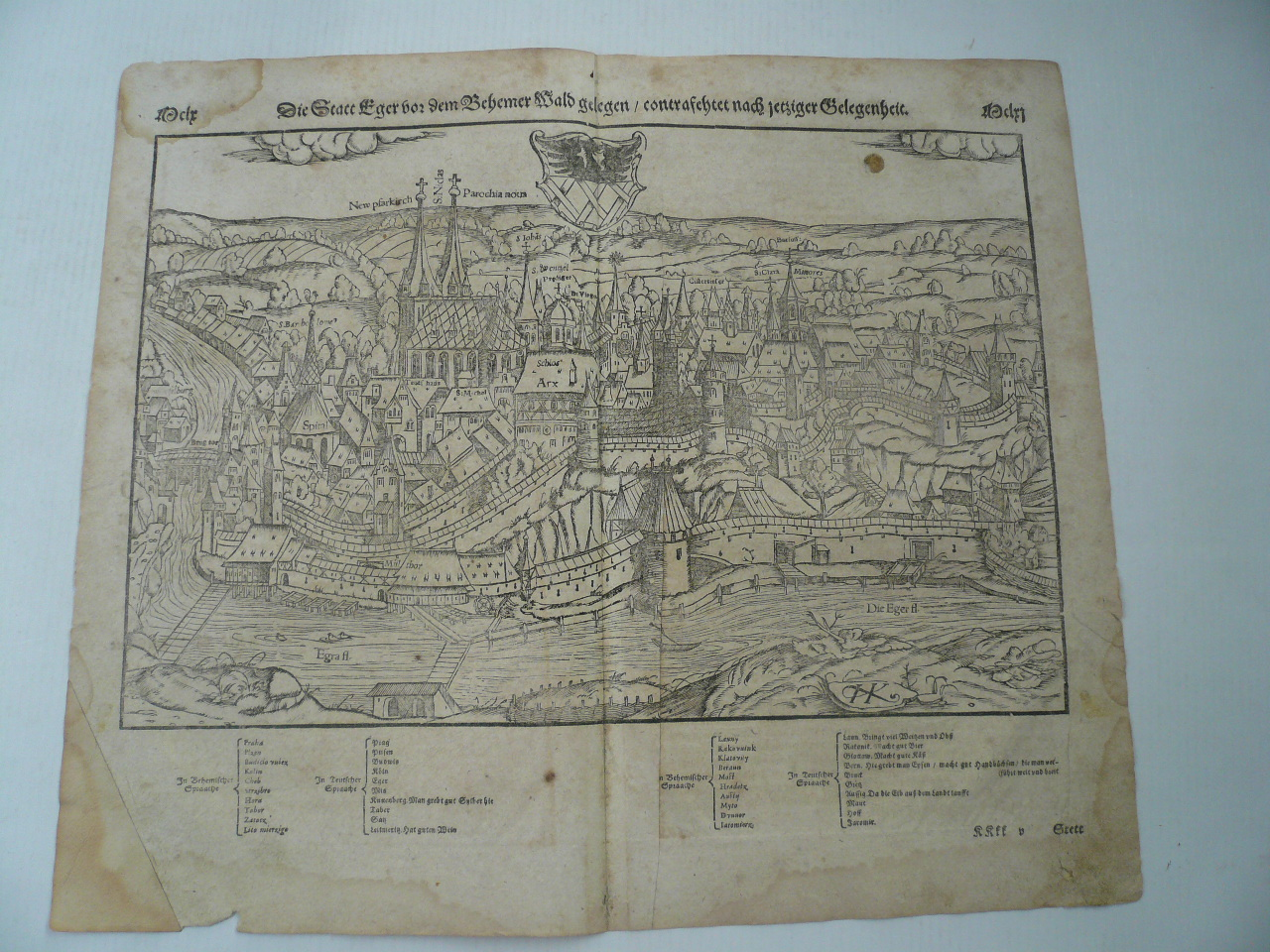 Cheb/Eger, woodcut,anno 1580, S. Münster      Woodcut, edited by