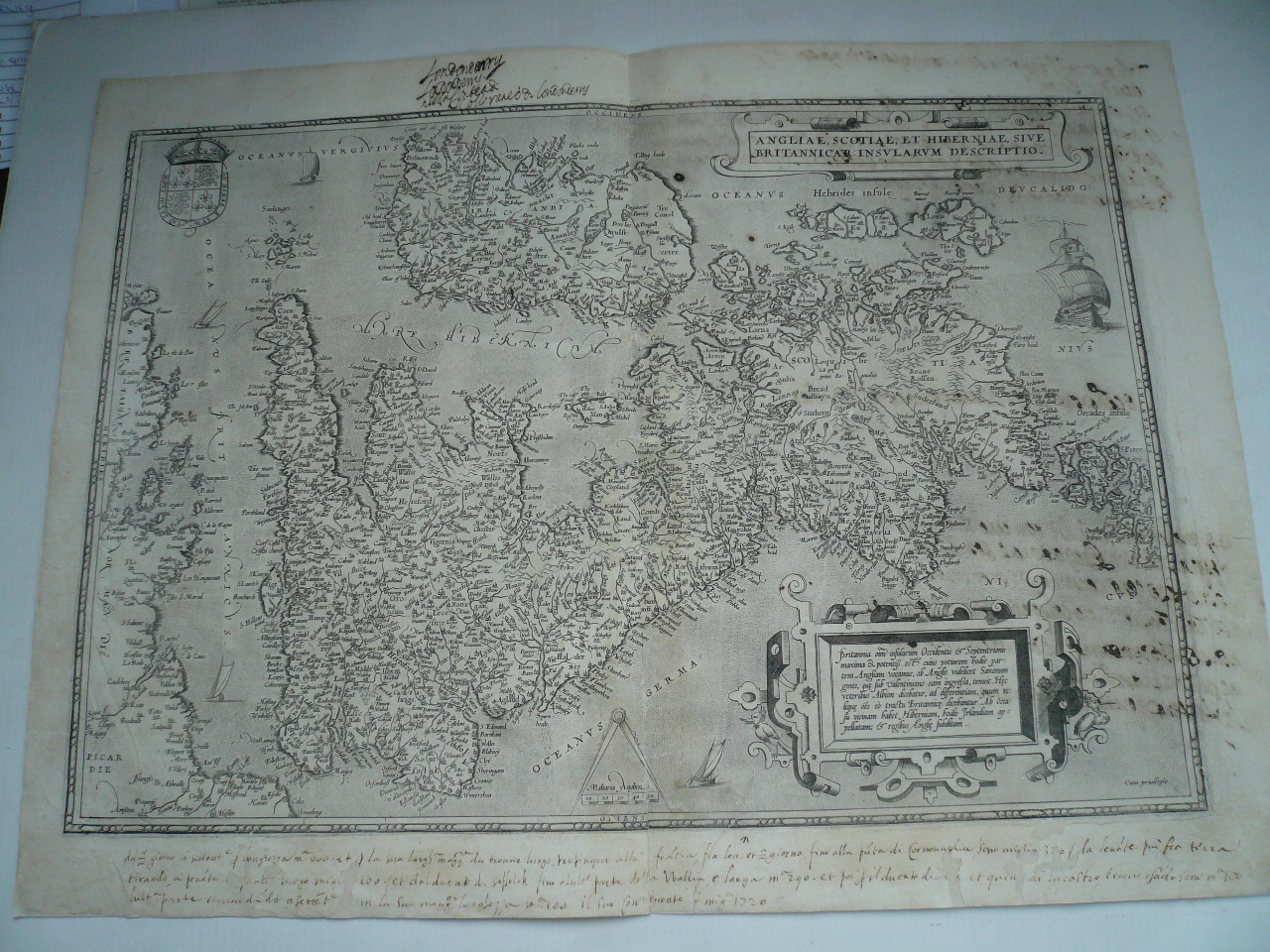 Grossbritannien,Ortelius A., anno 1571      Copperengraving, edi